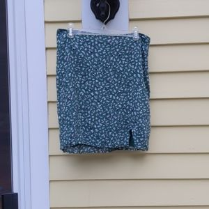 ABERCROMBIE AND FITCH Green Mini Skirt Floral S